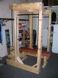 Bench For Power Rack Homemade Power Rack Made Out Of Wood And Pipe Wood Projects