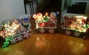 Outdoor Christmas Decorations Lighted Train by Christmas Decor 1 3 14 Collection On Ebay