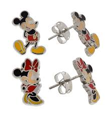 minnie mouse earrings earrings set mickey and minnie mouse set of 2