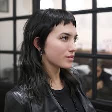modern mullet hairstyles women s modern undercut mullet with neon orange color