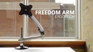 ergotron lx hd wall mount swing arm best monitor arm ergotech freedom monitor arm review youtube