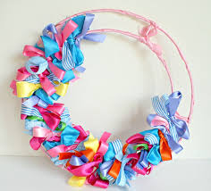 diy ribbon wreath tutorial grubby faces