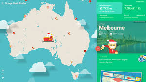 Google World Map With Country Names by Google Santa Tracker