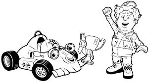 colouring sheets vehicles roary racing car winnner coloring