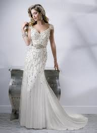 art deco wedding dress with gatsby glamour chic vintage brides