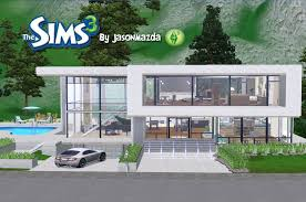 Modern House Blueprints The Sims 3 House Designs Modern Unity Youtube