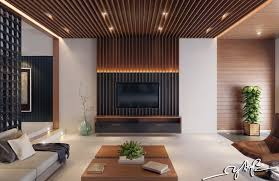 good looking feature wall design for living room wood modern