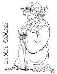 yoda grand master jedi star wars coloring