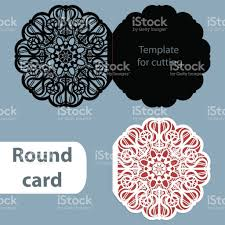 Invitation Card For New Year Laser Cut Wedding Round Card Template Paper Openwork Greeting Card