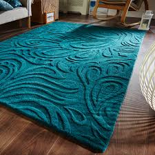 Turquoise Brown Rug Relief Paisley Rugs Feature A Contemporary Paisley Design Which