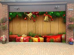 Home Christmas Tree Decorations Merry Christmas Garage Door Covers 3d Banners Holiday Tree