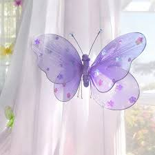 Purple Nursery Curtains by Amazon Com Nylon Hanging Butterflies Decoration Baby