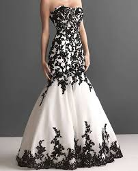 black and white dresses black and white wedding dress wedding gowns white