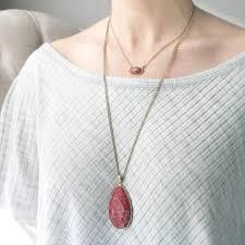 long red pendant necklace images Red jasper teardrop pendant necklace set genuine large stone jpg