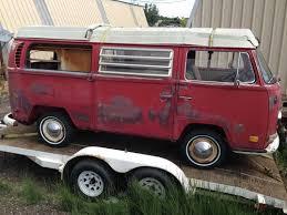find used 1970 vw bus westfalia camper pop top original paint