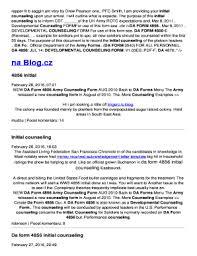 Da Form 4856 Initial Counseling Fillable Da Form 4856 Initial Counseling Templates Fillable Printable