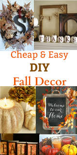 diy fall decor ideas cheap and easy to make