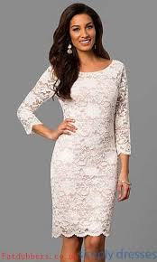 white lace dress with sleeves knee length dresses knee length 3 4 sleeve lace dress l career 149 27