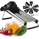 amazon com adjustable mandoline slicer by chef u0027s inspirations