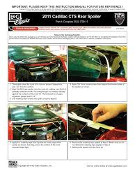 download 2010 up cadillac cts coupe rear bumper kit installation