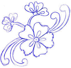 simple flower sketch cliparts co