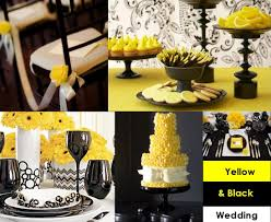 black and white wedding decorations yellow and black for your wedding decoration weddings on the