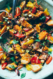 moroccan ish sweet potato sunshine salad the first mess plant
