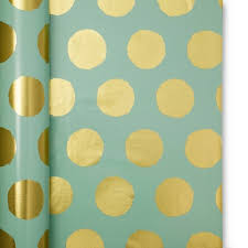 mint wrapping paper mint with gold dots wrapping paper oh
