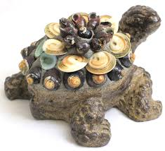 Turtle Planter Concrete Cement Turtle With Shells Garden Decor Small Cst024