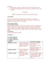 lab report templante for 10th and 9th grade