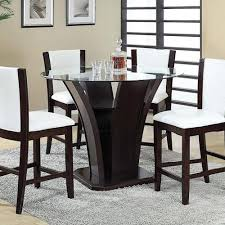contemporary counter height table acme furniture malik contemporary counter height dining table