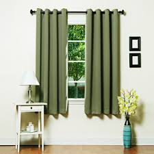 Curtains 46 Inches Home Grommet Top Thermal Insulated Blackout 64 Inch Curtain