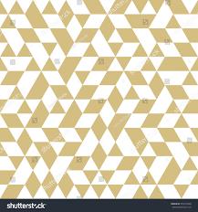 geometric vector pattern white golden triangles stock vector