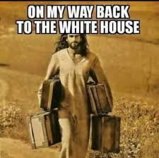 Jesus Meme - jesus is coming back to the white house to guide donald trump s hand