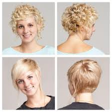 front and back pictures of short hairstyles for gray hair short curly hair stacked in back longer in front long pieces on