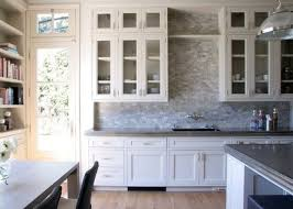 unusual kitchen backsplashes kitchens with white cabinets and backsplashes stainless steel