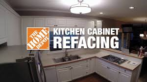 kitchen refacing time lapse the home depot youtube