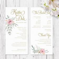 Order Wedding Programs Wedding Order Of Service Booklets Peach Perfect