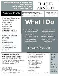 resume exles for bartender bartender resume sle luxsos me