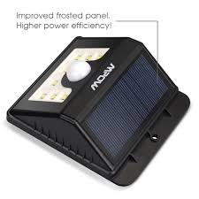 Solar Powered Motion Sensor Outdoor Light by Mpow Super Bright 8 Led Solar Powered Wireless Security Light