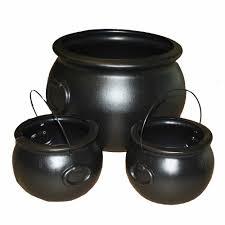 set of 3 cauldrons decoration walmart