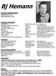 Sample Acting Resume For Beginners by 17 Best Theatre Auditions Images On Pinterest Broadway Theatre