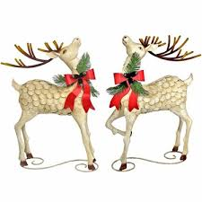 christmas reindeer large iron christmas reindeer set of 2 only 1 199 99 at garden