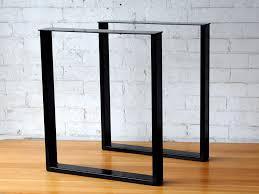 in metal table legs rectangular metal table legs pair modcraft australia