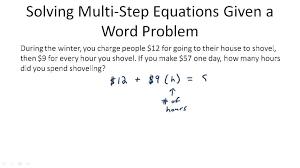 one step equation word problem example tessshebaylo