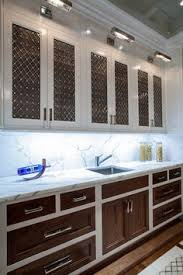 Two Tone Kitchen Cabinet Doors Cabinet Curtain Pinterest Cabinet Doors Black Countertops Gray