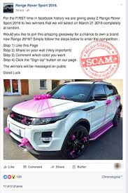 range rover pink 2016 version of u0027free range rover u0027 facebook scam spreading rapidly