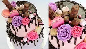 cake trend chocolate drip decorating tutorial cake style youtube