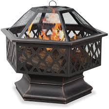 outdoor fire pit wood burning patio fireplace backyard heater