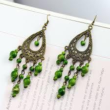 teardrop chandelier earrings dangle teardrop earrings olive chandelier earrings